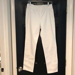 Soft Surroundings White elastic waist pant Sz med